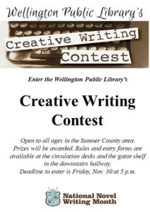 National Novel Writing Month | Wellington Public Library